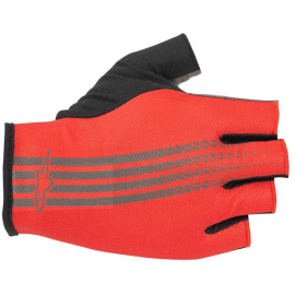 ALPINESTARS GLOVE - RIDGE SHORT FINGER GLOVE 2019: BRIGHT RED DARK SHADOW L