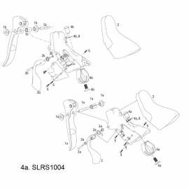 SRAM SPARE - SHIFTER BRAKE CLAMP KIT 2007-2008 RIVAL/FORCE  PAIR:
