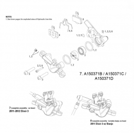 AVID SPARE - DISC BRAKE SPARE PARTS CALIPER CALIPER ASSEMBLY- ELIXER 3 (ASSEMBLED  NO HOSE):