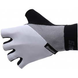 SANTINI 365 ORIGINE SHORT FINGER GLOVE: WHITE S