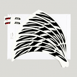 ZIPP SPARE - WHEEL DECAL SET 808 MATTE BLACK/NO BORDER ZIPP LOGO COMPLETE FOR ONE WHEEL OR DISC: BLACK 700C