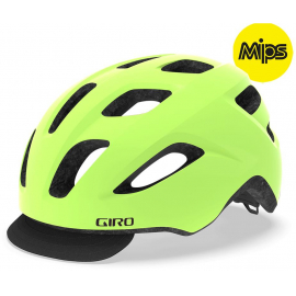GIRO CORMICK MIPS URBAN HELMET 2019: MATTE HIGHLIGHT YELLOW/BLACK UNISIZE 54-61CM