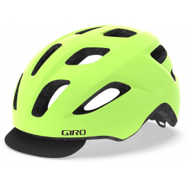 GIRO CORMICK URBAN HELMET 2019: MATTE HIGHLIGHT YELLOW/BLACK UNISIZE 54-61CM