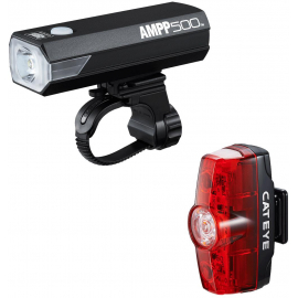 CATEYE AMPP 500 & RAPID MINI FRONT & REAR LIGHT SET: