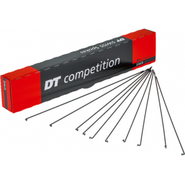 Competition black spokes 14 / 15 g = 2 / 1.8 mm box 100  250 mm