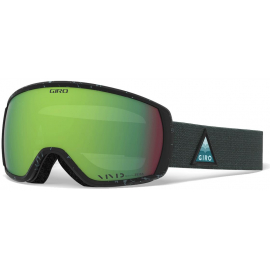 GIRO FACET WOMEN'S SNOW GOGGLE 2020: TEAL ARROW MTN - VIVID EMERALD LENSES MEDIUM FRAME
