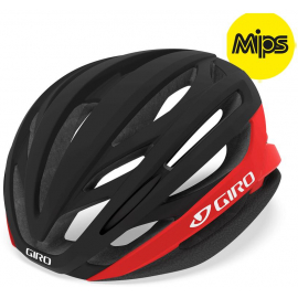 GIRO SYNTAX MIPS ROAD HELMET 2019: MATTE BLACK/BRIGHT RED S 51-55CM