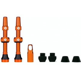 Tubeless Valve Kit 44mm/Orange