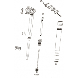 ROCKSHOX SPARE - SEATPOST SPARE PARTS POST CLAMP KIT - REVERB INCLUDES UPPER/LOWER CLAMP PLATES/CLAMP NUTS/CLAMP BOLTS):