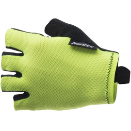 SANTINI 365 BRISK SHORT FINGER GLOVE: YELLOW S