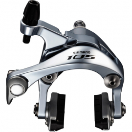 BR-5800 105 brake callipers  49 mm drop  silver  front