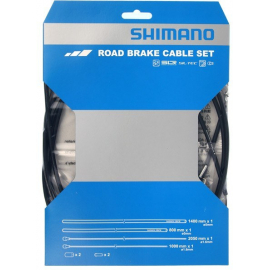 Road brake cable set with SIL-TEC coated inner wire  black