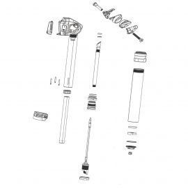 ROCKSHOX SPARE - SEATPOST POST CLAMP KIT - (INCLUDES CLAMP  NUTS & BOLTS) - REVERB STEALTH C1 (2020):