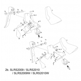 SRAM SPARE - SHIFTER LEVER ASSEMBLY KIT 2009-2011 APEX/RIVAL  RIGHT: