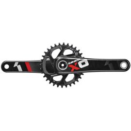 SRAM X01 CRANK - GXP - 1X11 - 170MM -- INCLUDES 32T DIRECT MOUNT CHAINRING (GXP CUPS NOT INCLUDED):11SPD 170MM 32T