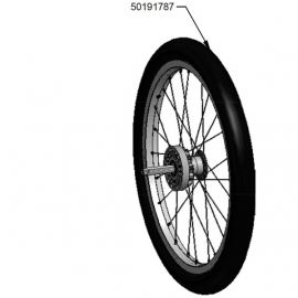 18 inch wheel assembly with tyre for Chinook 1 or 2