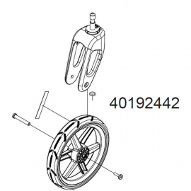 Chariot replacement stroller wheel and caster for Cross or Lite